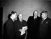 17/02/1953<br /> 02/17/1953<br /> 17 February 1953<br /> Fine Gael Ard Fheis at the Mansion House, Dublin. Some of the attendees at the  Party's Ard Fheis.