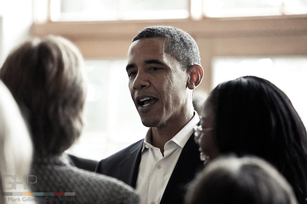 Presidential candidate, Senator Barack Obama