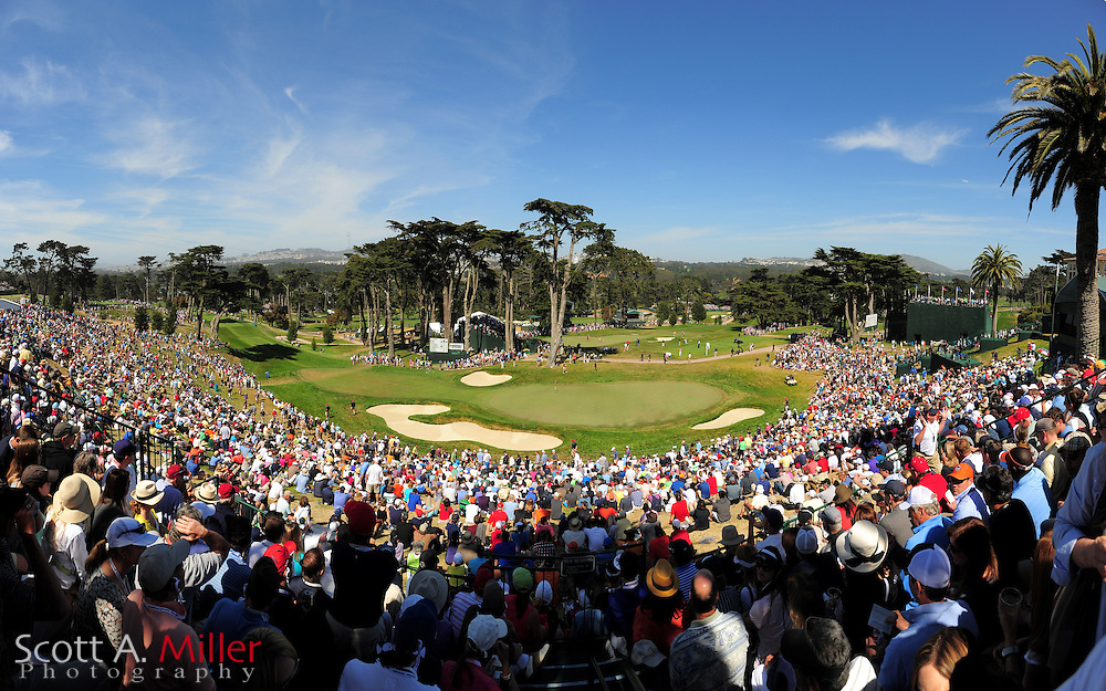 Panoramic view of the eighth hole during the third round of the 112th U.S. Open at The Olympic Club on June 16, 2012 in San Fransisco. ..©2012 Scott A. Miller