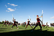 The Oregon Marching Band, collectively known as Shadow Armada, is seen practicing before their dress rehearsal performance in Oregon, Wisconsin on June 21, 2012.