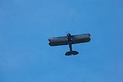Boeing 40 flying over Ken Jernstedt Airfield.