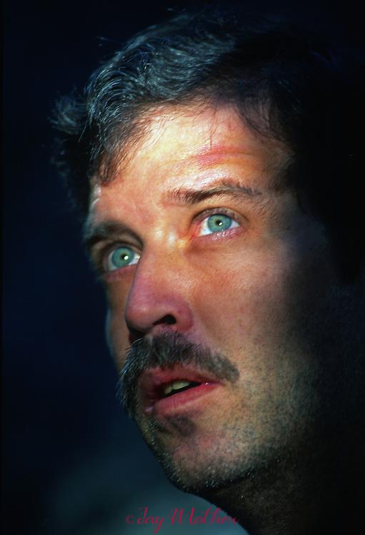 "Mike Corbett, veteran rock climber in Yosemite.  Often called ""Mr. El Cap.""  September 1991"