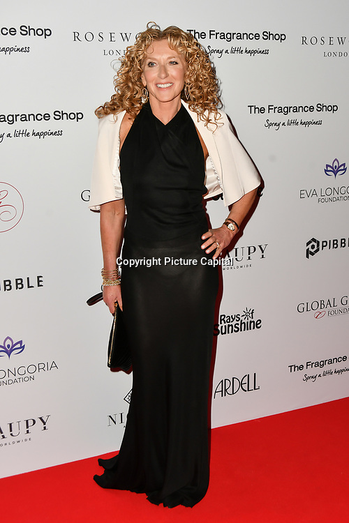 Kelly Hoppen Arrivers at The Global Gift Gala red carpet - Eva Longoria hosts annual fundraiser in aid of Rays Of Sunshine, Eva Longoria Foundation and Global Gift Foundation on 2 November 2018 at The Rosewood Hotel, London, UK. Credit: Picture Capital