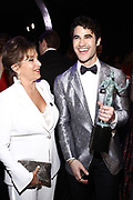 Gabrielle Carteris, President, SAG-AFTRA National, and actor Darren Criss