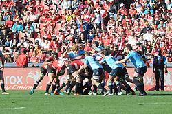 28-07-18 Emirates Airline Park, Johannesburg. Super Rugby semi-final Emirates Lions vs NSW Waratahs. 1st half. A loses scrum.<br />  Picture: Karen Sandison/African News Agency (ANA)