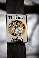 UK ENGLAND BERKSHIRE STANFORD DINGLEY 22MAR11 - Neighbourhood Watch sign outside the St. Denis parish church in Stanford Dingley, Berkshire, England...jre/Photo by Jiri Rezac..© Jiri Rezac 2011