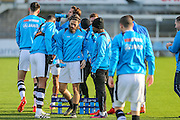 The FGR players take a drinks break during the warm up during the Vanarama National League match between Torquay United and Forest Green Rovers at Plainmoor, Torquay, England on 26 December 2016. Photo by Shane Healey.