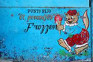 Ice cream stand in Niquero, Granma Province, Cuba.