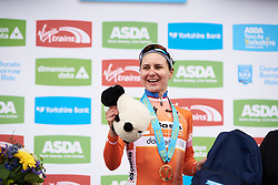 Stage winner, Megan Guarnier (USA) at ASDA Tour de Yorkshire Women's Race 2018 - Stage 2, a 124 km road race from Barnsley to Ilkley on May 4, 2018. Photo by Sean Robinson/Velofocus.com