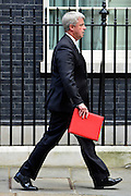 © Licensed to London News Pictures. 11/09/2012. Westminster, UK Leader of the House of Commons, Lord Privy Seal - Andrew Lansley. MP's arrive for Cabinet at number 10 Downing Street today 11/09/12. Photo credit : Stephen Simpson/LNP