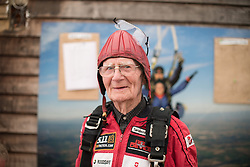 © Licensed to London News Pictures. 25/08/2016. <br /> <br /> Pictured: A portrait of D-Day veteran Fred Glover prior to his parachute jump.<br /> <br /> Fred Glover and Ted Pieri, two D-Day veterans who are both 90 years old have parachuted into Sarum Airfield, Wiltshire on Thursday 25th August 2016, 72 years after D-Day having earlier in the month parachuted into Merville Battery in France.<br /> <br /> <br /> Photo credit should read Max Bryan/LNP