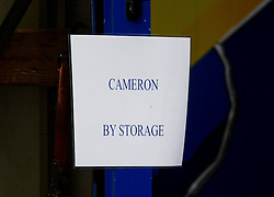 © Licensed to London News Pictures. 16/07/2016. London, UK. A van marked fro David Cameron. Removal men begin to take items from numbers 10 and 11 at Downing Street at the end of the week that saw Prime Minister David Cameron leave and Theresa May arrive. Photo credit: Ben Cawthra/LNP