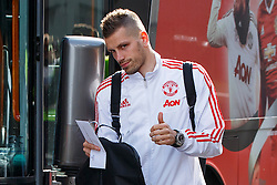 © Licensed to London News Pictures. 20/05/2016. London, UK. Manchester United player MORGAN SCHNEIDERLIN and the team arrive at their hotel in Wembley, London on Friday, 20 May 2016, ahead of the FA Cup final against Crystal Palace in Wembley Stadium. Photo credit: Tolga Akmen/LNP