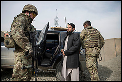 Imam Asim Hafiz arrives at Camp Qargha in Kabul to meet Afghan Army Troops, 19th January 2014 . Picture by Andrew Parsons / Parsons Media Ltd