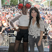 Photocall KT Tunstall & Noisettes performs at the International Busking Day is returning to Wembley Park on 20 July 2019, London, UK.