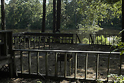 EXCLUSIVE***TThe portch that overlooks the burial site in the earthen dam on Olen Burrages property in Philadelphia,Ms. Friday June 17,2005. There has been no journalists who have ventured to the site in 40 years,until now. James Chaney,Michael Schwerner and Andrew Goodmans bodies were pulled from this site in 1964. Edgar Ray Killen is on trial for there murders.(Photo/Suzi Altman)