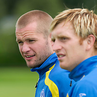 St Johnstone Training.....<br /> Kevin Rutkiewicz and Liam Craig<br /> Picture by Graeme Hart.<br /> Copyright Perthshire Picture Agency<br /> Tel: 01738 623350  Mobile: 07990 594431