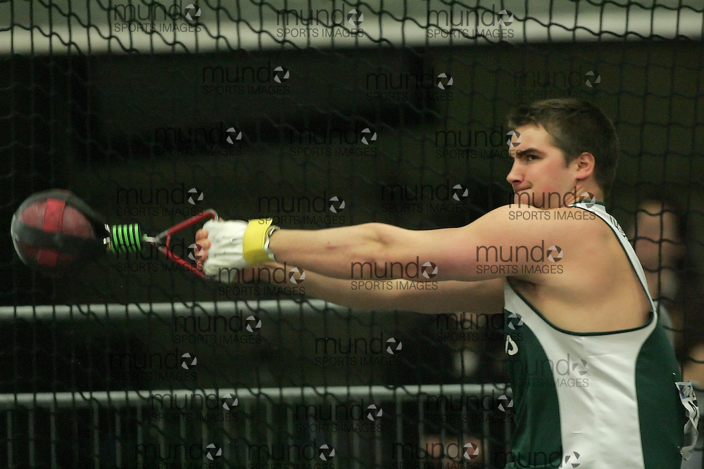 (Windsor, Ontario---12 March 2010) Andrew Smith of University of Saskatchewan   competes in the  at the 2010 Canadian Interuniversity Sport Track and Field Championships at the St. Denis Center. Photograph copyright Sean Burges/Mundo Sport Images. www.mundosportimages.com