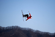 PYEONGCHANG-GUN, SOUTH KOREA - FEBRUARY 17: Tess Ledeux of France during the Womens Slopestyle Freestyle Skiing on day eight of the PyeongChang 2018 Winter Olympic Games at Phoenix Snow Park on February 17, 2018 in Pyeongchang-gun, South Korea. Photo by Nils Petter Nilsson/Ombrello               ***BETALBILD***