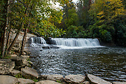 Hooker Falls at DuPont State Forest in Cedar Mountain, North Carolina, Oct. 22, 2018.<br /> <br /> <br /> &copy; Photography by Kathy Kmonicek