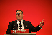 Tom Watson Mp and deputy leader of the Labour Party gives his first speech at the Labour Party conference in Brighton 2015.