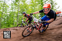 Enduro bicycle race at the 2014 Marquette Trails Festival at Marquette Mountain Ski Area in Marquette, Michigan.  The event showcases the trails of the Noquemanon Trail Network.