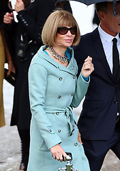 Anna Wintour arriving at the LFW: Burberry Prorsum - s/s 2014 catwalk show at Kensington Gardens, Kensington Gore in London, UK. 16/09/2013<br />