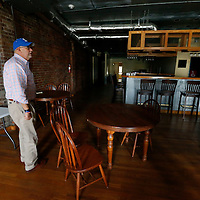Thomas Wells | BUY AT PHOTOS.DJOURNAL.COM<br /> Saltillo Mayor Rex Smith walks through one of several buildings in downtown Saltillo the City has acquired.