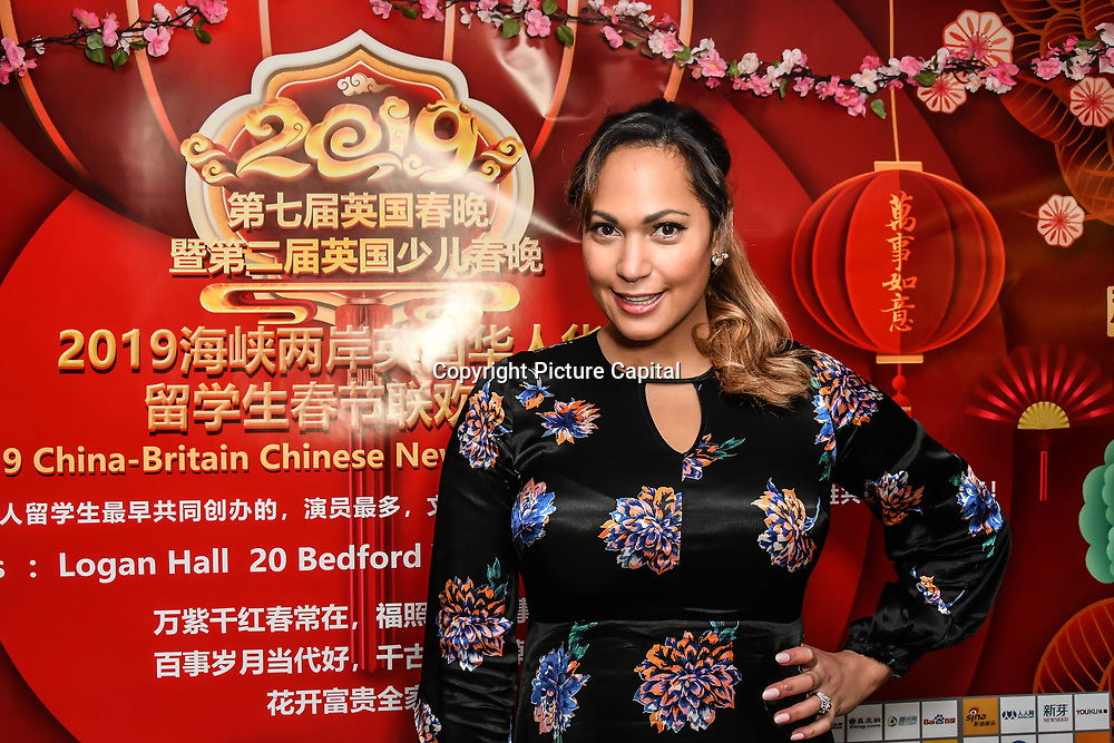 Hunny B is a Recording Artist and songwriter attends the 7th 2019 Chinese New Year Extravaganza showcasing more than 300 performers including musical Chinese dance , Taiji ,Kungfu,magic face change and much more at Logan Hall. The performance from more than 20 arts groups from China and UK on 2nd Febuary 2019, London, UK.
