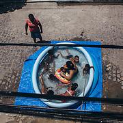 A popular swimming pool in San Martin neighborhood.