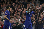 Antonio Rudiger of Chelsea &reg; celebrates after he scores his teams 1st goal. <br /> EFL Carabao Cup 4th round match, Chelsea v Everton at Stamford Bridge in London on Wednesday 25th October 2017.<br /> pic by Kieran Clarke, Andrew Orchard sports photography.