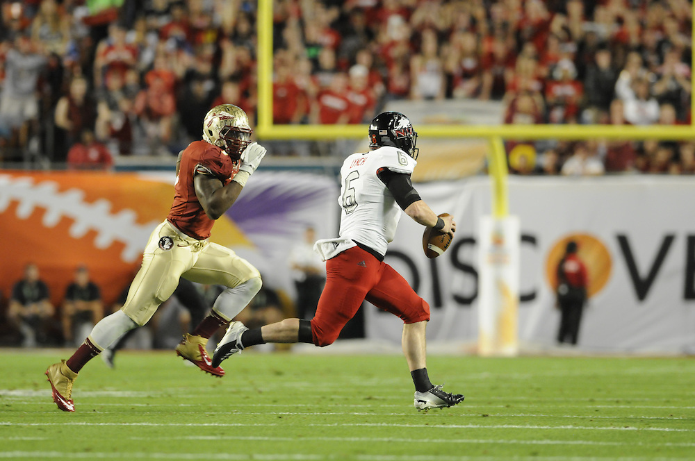 January 1, 2013: Outtakes of the NCAA football game between the Northern Illinois Huskies and the Florida State Seminoles at the 2013 Orange Bowl in Miami Gardens, Florida. The Seminoles defeated the Huskies 31-10.