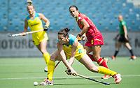 BRUSSEL - Karri McMahon (Aus.)  during AUSTRALIA v SPAIN , Fintro Hockey World League Semi-Final (women) . COPYRIGHT KOEN SUYK