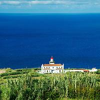 Portugal, Azores, Sao Miguel. Ponta da Ferraria Lighthouse.