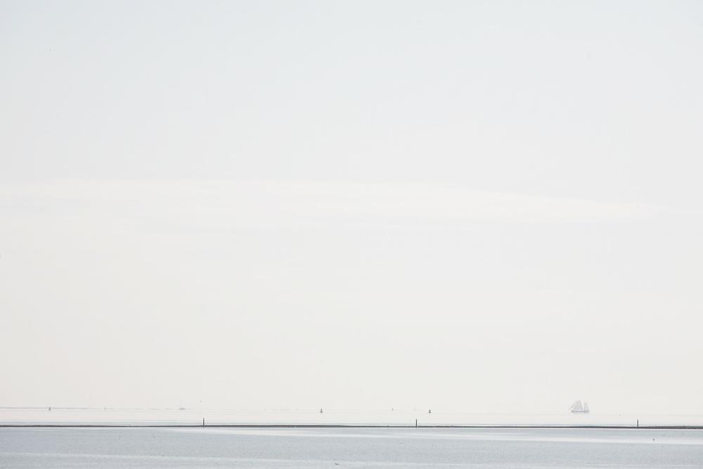 Looking out towards the Waddenzee from the harbour of West-Terschelling // Een blik op de Waddenzee vanuit de haven van West-Terschelling.