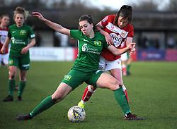 Carla Humphrey of Bristol City competes with Ellie Mason of Yeovil Town Ladies - Mandatory by-line: Nizaam Jones/JMP - 27/01/2019 - FOOTBALL - Stoke Gifford Stadium - Bristol, England - Bristol City Women v Yeovil Town Ladies- FA Women's Super League 1
