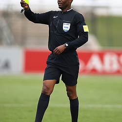 Referee Mr Victor Hlungwani during the Absa Premiership match between  Golden Arrows and AmaZulu FC at the Princess Magogo Stadium,Durban,South Africa,<br /> 17th September -2017 (Photo by Steve Haag)