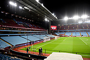 The South stand , Villa Park showing the big screen during the Premier League match between Aston Villa and Newcastle United at Villa Park, Birmingham, England on 25 November 2019.