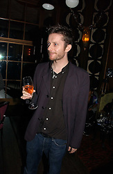 Musician JAMIE HEWLETT at a party hosted by Dom Perignon at Sketch, Conduit Street, London on 18th October 2006.<br />