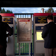 VRE ticket machines at the Broad Run Station.