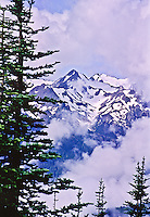 A view of the Bailey Range as seen from Hurricane Hill, Olympic National Park. Washington, USA.