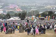 Day 5 Glastonbury Festival:<br /> THE DALAI LAMA VISITS Glastonbury festival on June 27. 2015.<br /> <br /> Photos Ki Price