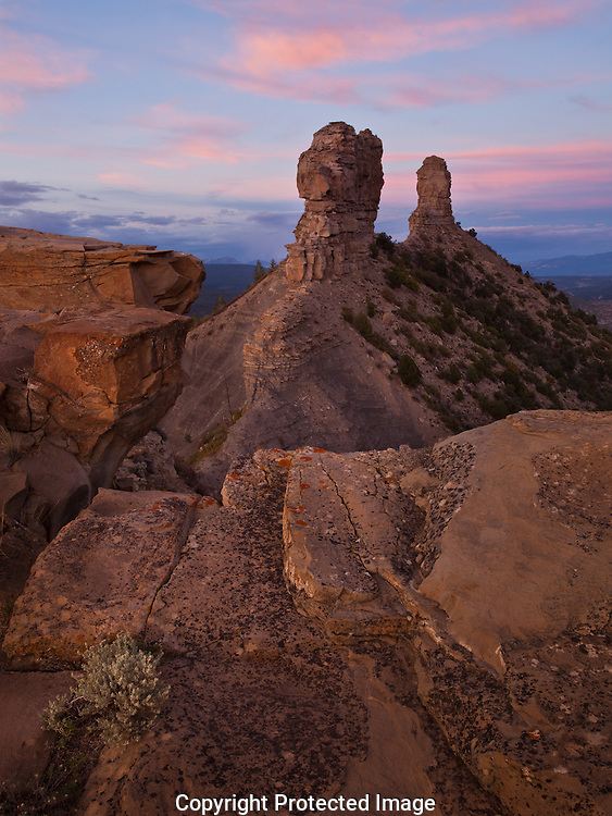Lunar standstill alignment spires, Chimney Rock National Monument, CO