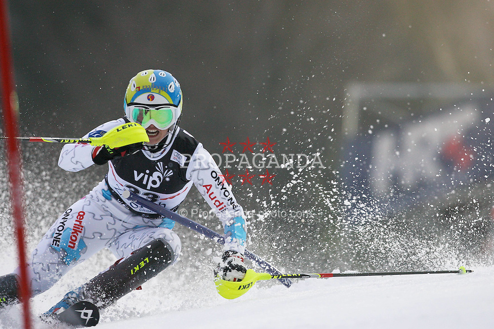 03.01.2012, Crveni Spust, Sljeme, CRO, FIS Weltcup Ski Alpin, Zagreb, Damen Slalom 1. Durchgang, im Bild Marina Nigg during Slalom race 1st run of FIS Ski Alpine World Cup at 'Crveni Spust' course in Sljeme, Zagreb, Croatia on 2012/01/03..EXPA Pictures © 2012, PhotoCredit: EXPA/ nph/ PIXSELL/ Slavko Midzor..***** ATTENTION - OUT OF GER, CRO *****
