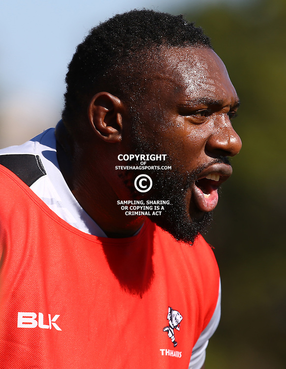 DURBAN, SOUTH AFRICA, 18,JULY, 2016 -Tendai Beast Mtawarira during The Cell C Sharks training session at Growthpoint Kings Park in Durban, South Africa. (Photo by Steve Haag)<br /> <br /> images for social media must have consent from Steve Haag