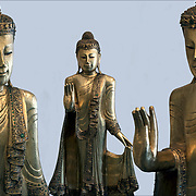 Asian work of art  (Chinese ) gilt brass standing Buddha.