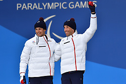 CLARION Thomas FRA B1 Guide: BOLLET Antoine, ParaSkiDeFond, Para Nordic Skiing, 20km, Podium at  the PyeongChang2018 Winter Paralympic Games, South Korea.