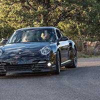 A fine Porsche arriving for the 2012 Santa Fe Concorso High Mountain Tour.