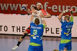 HANSEN Mikkel of Denmark during handball match between National teams of Slovenia and Denmark on Day 2 in Main Round of Men's EHF EURO 2018, on January 19, 2018 in Arena Varazdin, Varazdin, Croatia. Photo by Mario Horvat / Sportida