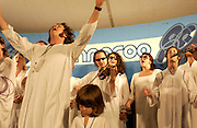 Manchester, TN.  2003 Bonnaroo Music Festival. The Polyphonic Spree performs at Bonnaroo 2004. Mandatory Credit: Bryan Rinnert/3Sight Photography..